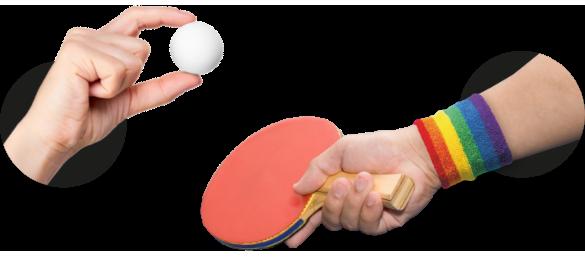 Regenboog tennis
